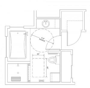 Master bathroom for ADA Conversions