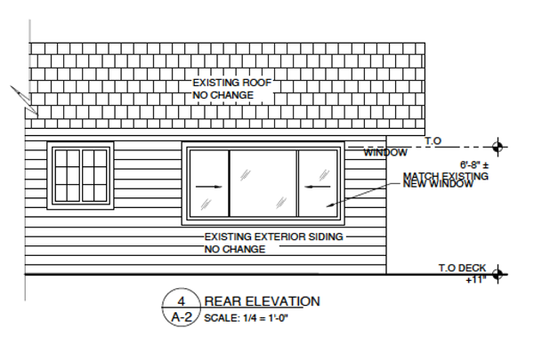 Outside plans for residential remodel