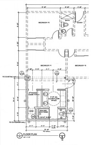 Residential plans for bathroom remodel