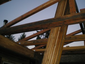 Photo of rustic post and beam drafting project