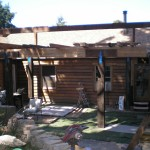 Rustic Post-and-Beam Patio