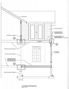 residential drafting for a second story - side view