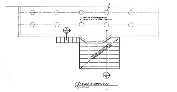 Residential drafting plans for a kitchen