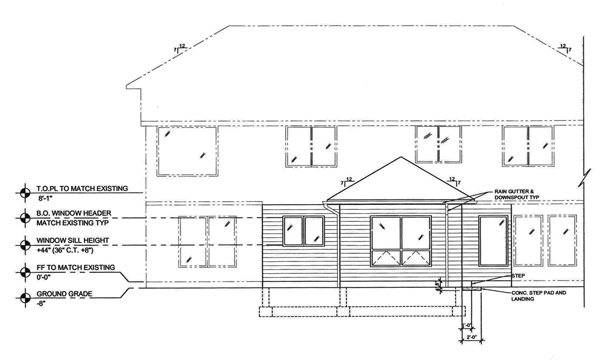 Residential plans for kitchen remodel