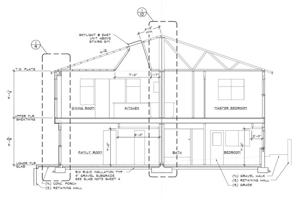 Duplex row/town house drafting plans