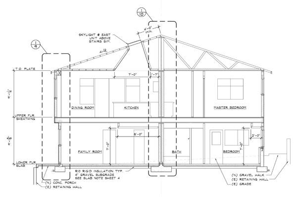 Duplex row/town house drafting plans